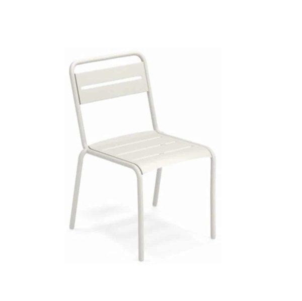 Star Side Chair Steel Matt White 23