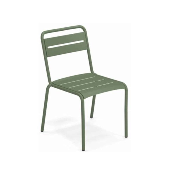 Star Side Chair Steel Military Green 17