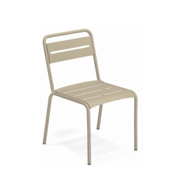 Star Side Chair Steel Taupe 71
