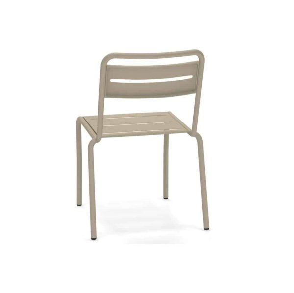 Star Side Chair Steel Taupe 71 Back View