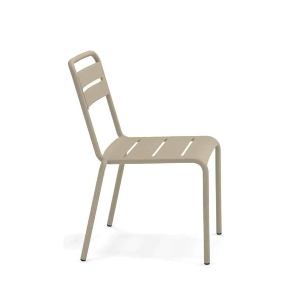 Star Side Chair Steel Taupe 71 Side View