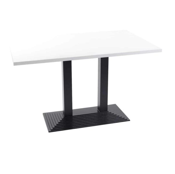 Stepped Cast Iron Black Table Base DeFrae Contract Furniture Round Dining Height Twin Base