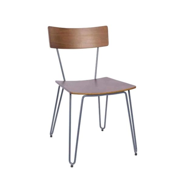 Trinian Side Chair with hairpin legs DeFrae Contract Furniture