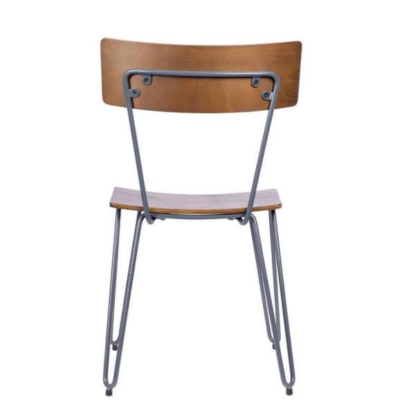 Trinian Side Chair with hairpin legs DeFrae Contract Furniture back view