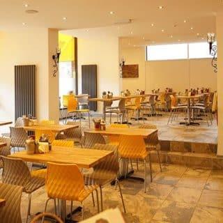 Blazin Burger restaurant furniture by DeFrae Contract Furniture
