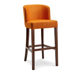 Valencia Bar Stools from DeFrae Contract Furniture. Upholstered seat and back for restaurants, bars and coffee shops