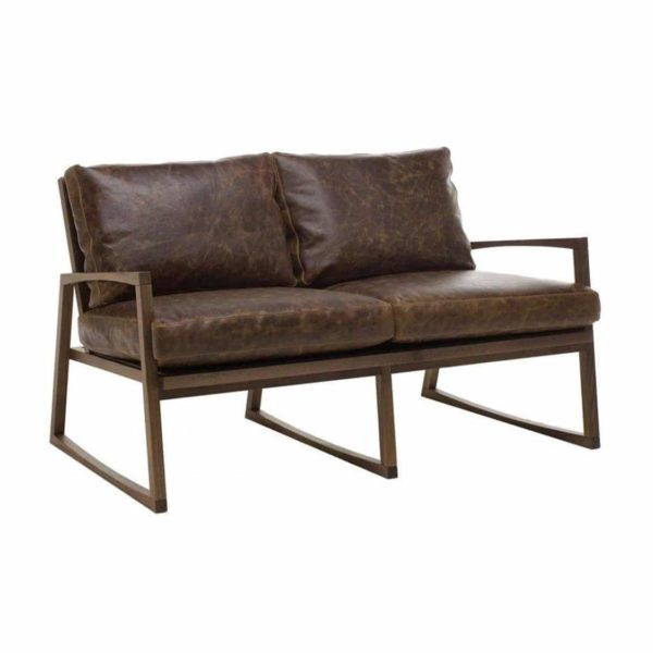 Available in a wide range of fabrics or faux leathers. The wooden frame can be stained to any wood finish.