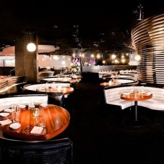 Banquette seating at STK London at the Me Hotel by DeFrae Contract Furniture