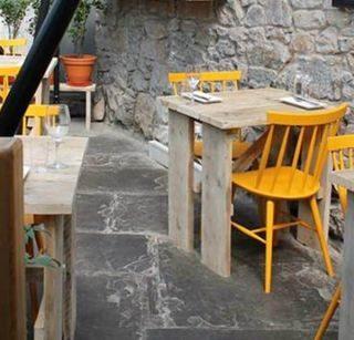 Restaurant chairs by DeFrae Contract Furniture at Edinburgh Larder
