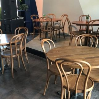 Bar Restaurant furniture by DeFrae Contract Furniture at Empire Bar at The Hackney Empire