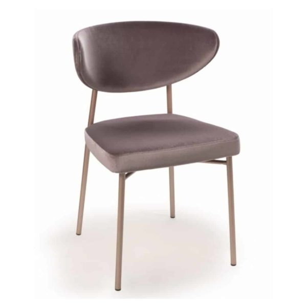 Albie side chair with brass frame DeFrae Contract Furniture Ivy Side Chair Laco 3