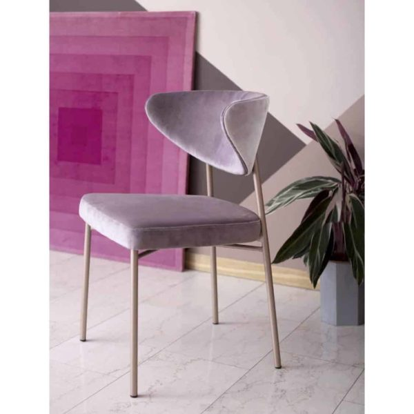 Albie side chair with brass frame DeFrae Contract Furniture Ivy Side Chair Laco