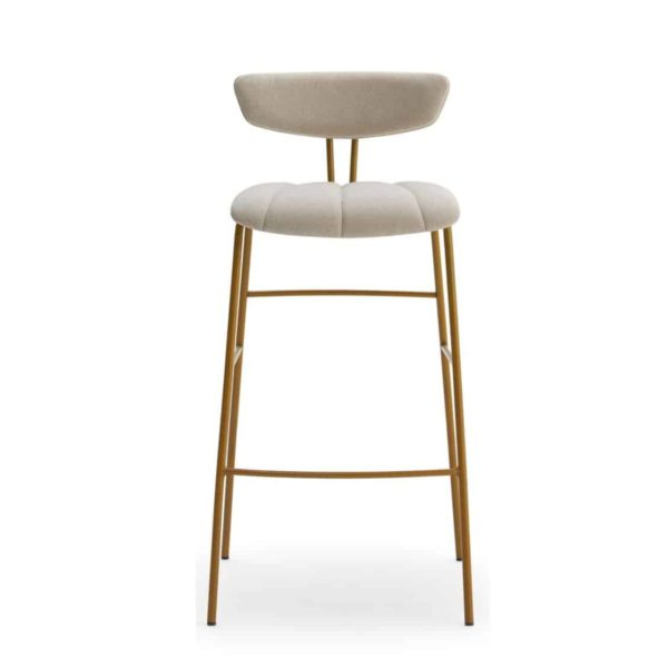 Amy Bar Stool Laco WS Brass Gold Frame DeFrae Contract Furniture