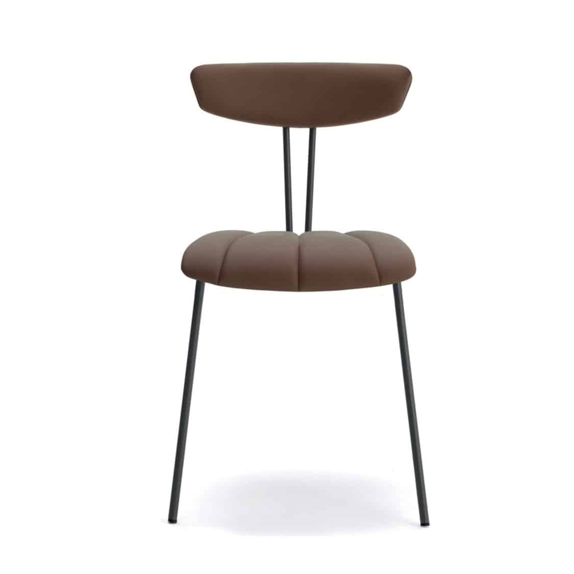Amy Side Chair Laco Metal Frame Restaurant Bar DeFrae Contract Furniture