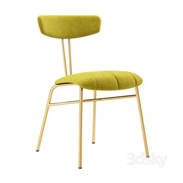 Amy Side Chair with brass legs DeFrae Contract Furniture