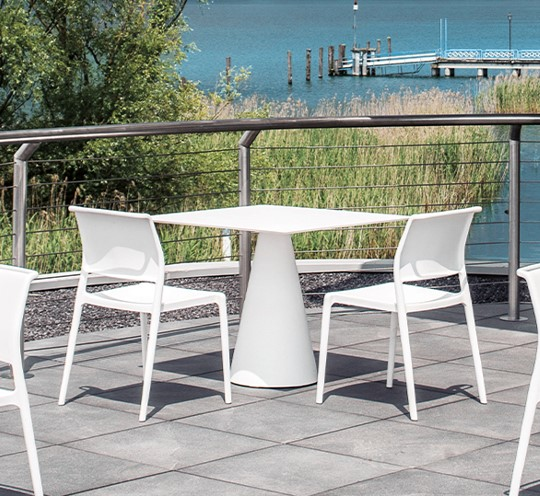 Ara Outside Side Chair Pedrali Available At DeFrae Contract Furniture White