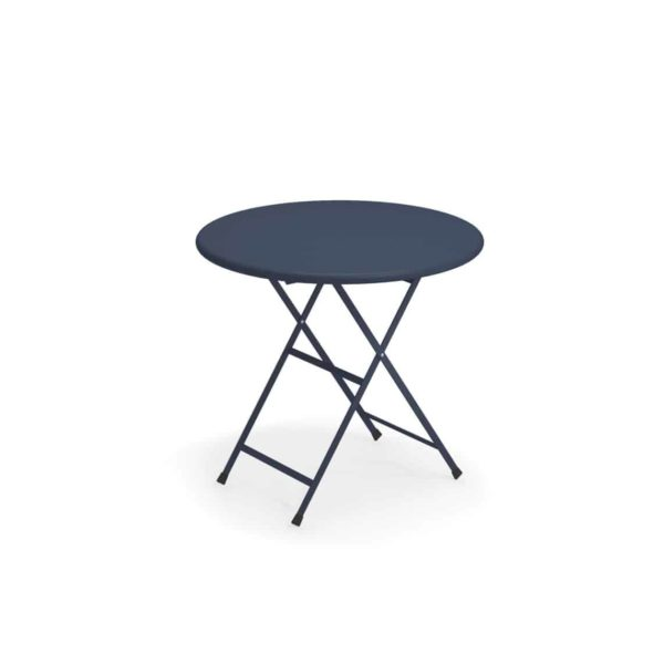 Arc en ciel folding round from Emu available from DeFrae Contract Furniture black