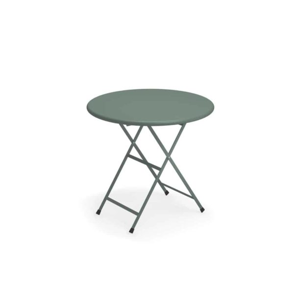 Arc en ciel folding round from Emu available from DeFrae Contract Furniture grey