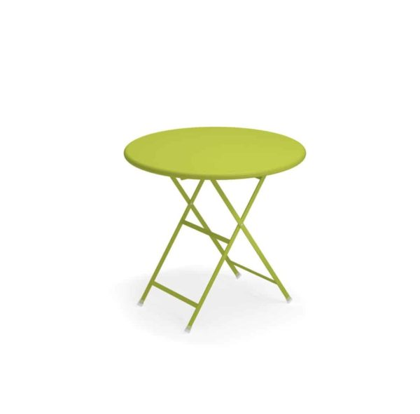 Arc en ciel folding round from Emu available from DeFrae Contract Furniture lime green