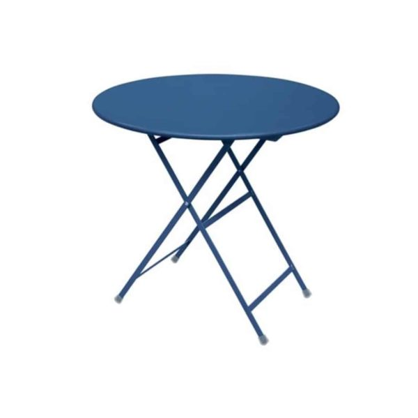 Arc en ciel folding round from Emu available from DeFrae Contract Furniture navy blue