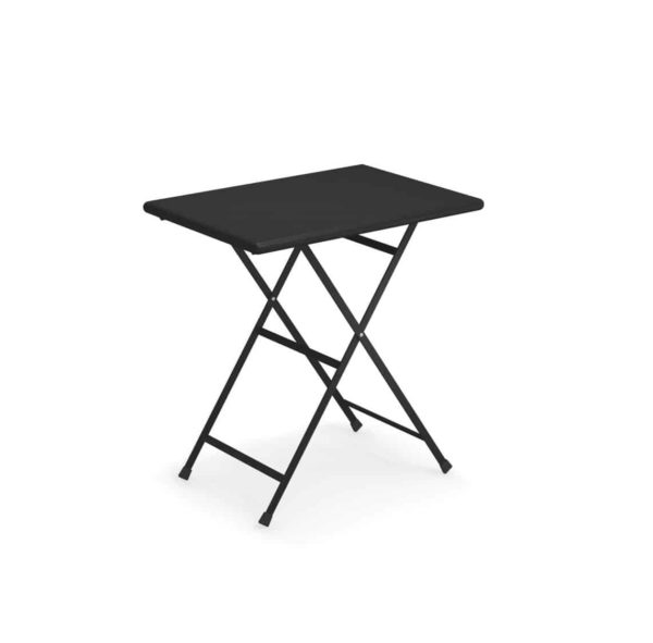 Arc en ciel folding outdoor folding table sqaure from Emu available from DeFrae Contract Furniture Black