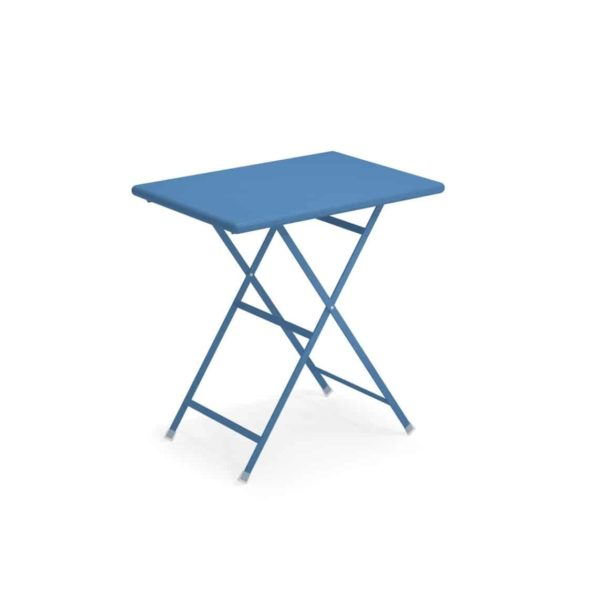 Arc en ciel folding outdoor folding table sqaure from Emu available from DeFrae Contract Furniture Blue