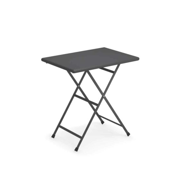 Arc en ciel folding outdoor folding table sqaure from Emu available from DeFrae Contract Furniture Charcoal Grey