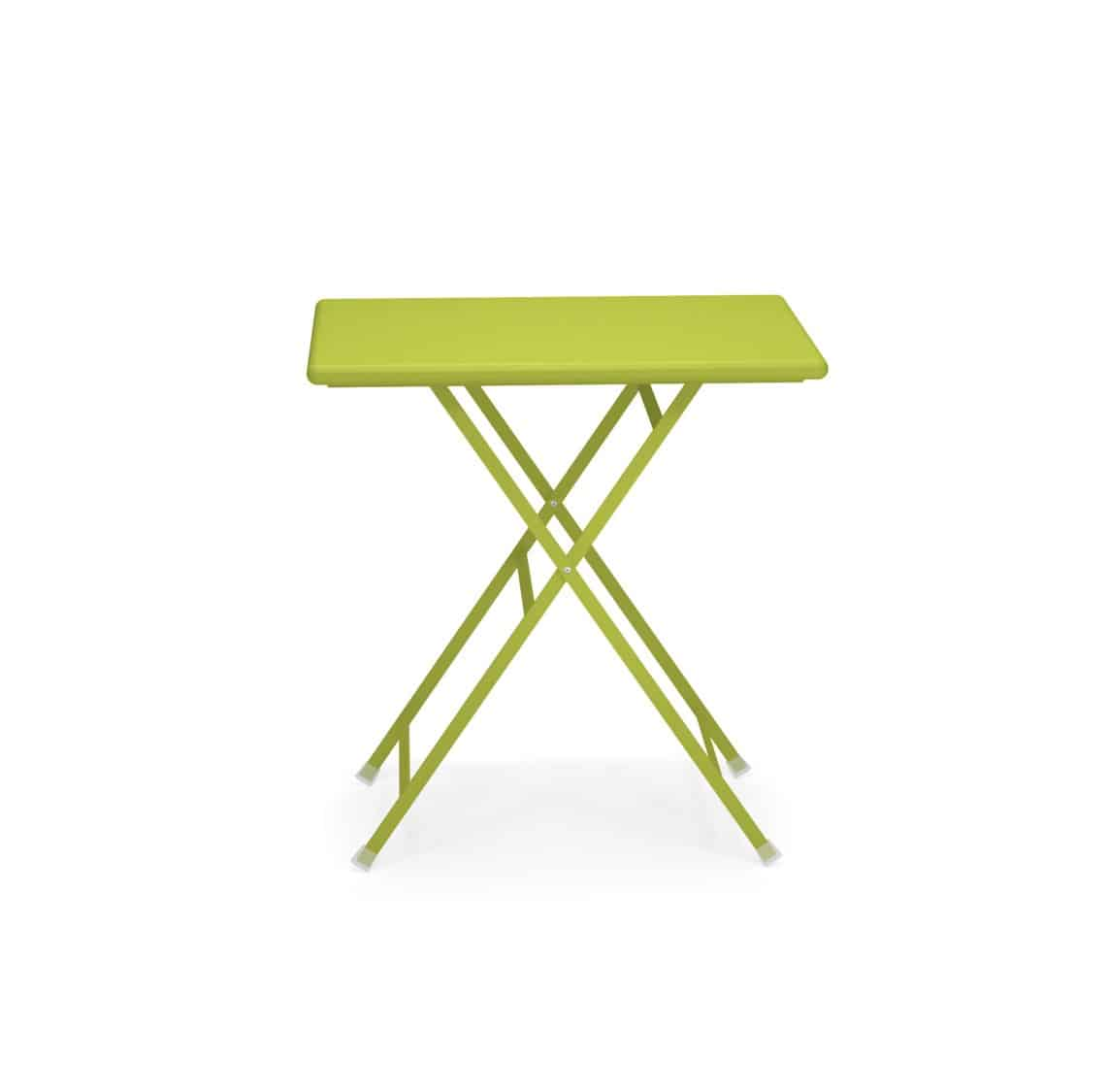 Arc en ciel folding outdoor folding table sqaure from Emu available from DeFrae Contract Furniture Green