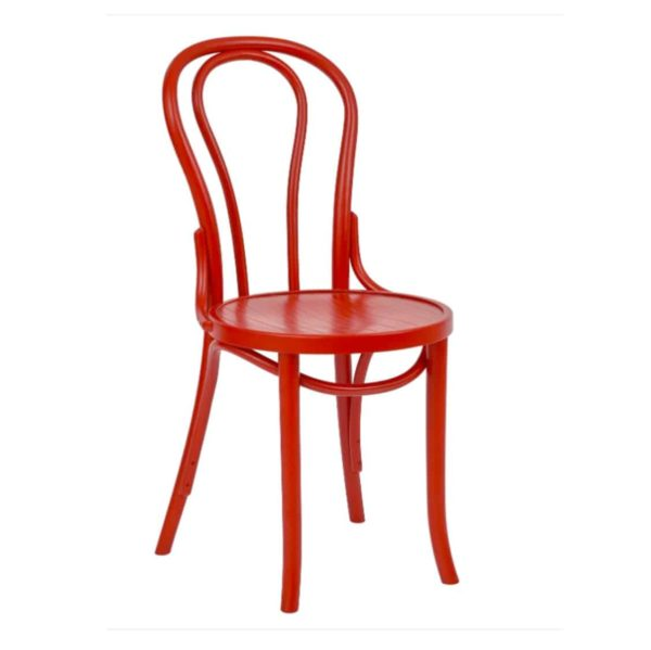 Archie Bentwood Side Chair From DeFrae Contract Furniture Red
