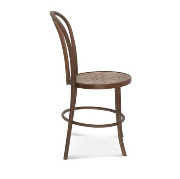 Archie Bentwood Side Chair From DeFrae Contract Furniture Side View