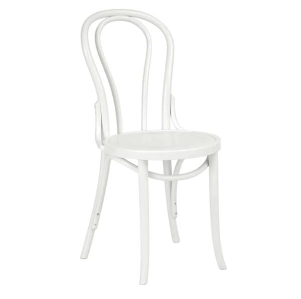 Archie Bentwood Side Chair From DeFrae Contract Furniture White