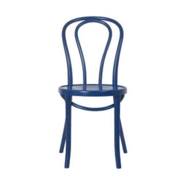 Archie Bentwood Side Chair Upholstered Seat From DeFrae Contract Furniture Blue