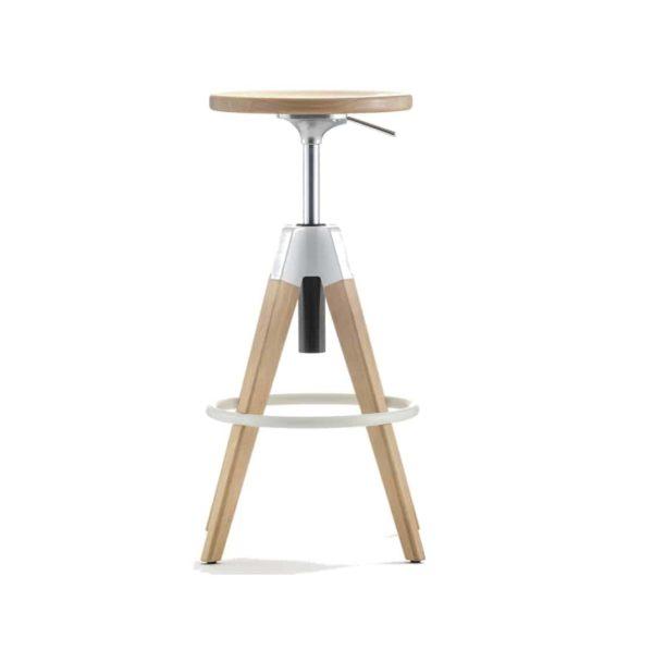 Arki Bar Stool Pedrali at DeFrae Contract Furniture Natural Adjustable Seat Height