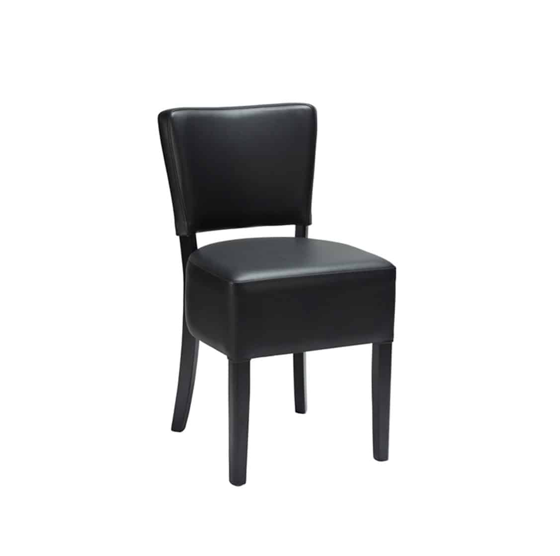 Ascot Side Chairs From DeFrae Contract Furniture Black Faux Leather Wenge Frame.png