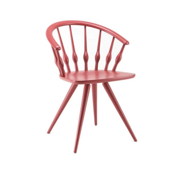 Ashleigh Spindle Back Side Chair Aston Cizeta DeFrae Contract Furniture Pink