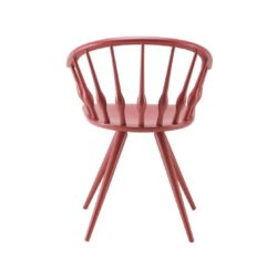 Ashleigh Spindle Back Side Chair Aston Cizeta DeFrae Contract Furniture pink back view