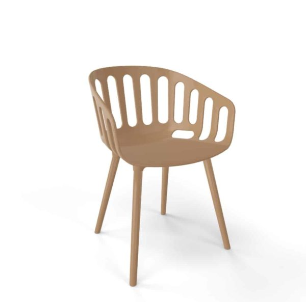 Basket Armchair Gaber at DeFrae Contract Furniture Brown And Brown Legs 2