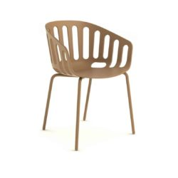 Basket Armchair Gaber at DeFrae Contract Furniture Brown And Brown Legs