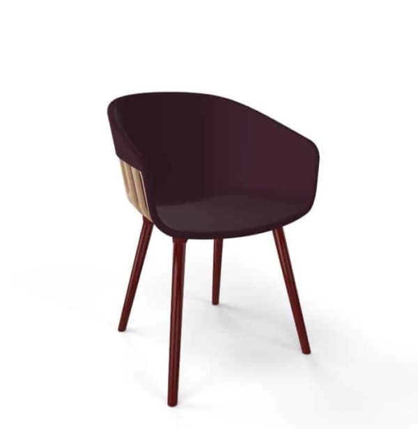 Basket Armchair Gaber at DeFrae Contract Furniture Brown And Brown Legs with cushion