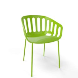 Basket Armchair Gaber at DeFrae Contract Furniture lime green shell and lime green legs