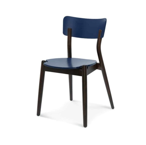 Beam side chair Malibu Restaurant Chair DeFrae Contract Furniture Blue