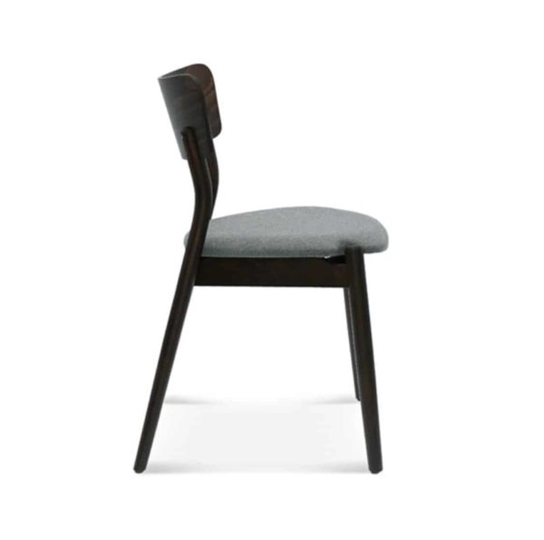 Beam side chair Malibu Restaurant Chair DeFrae Contract Furniture Grey Upholstered Seat