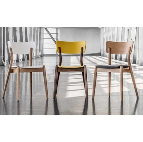 Beam side chair Malibu Restaurant Chair DeFrae Contract Furniture Range