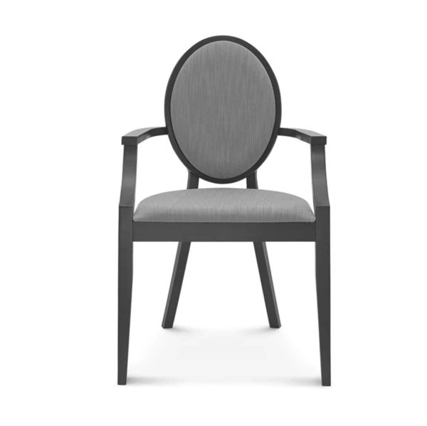 Belle armchair medallion round back restaurant chair DeFrae Contract Furniture Main