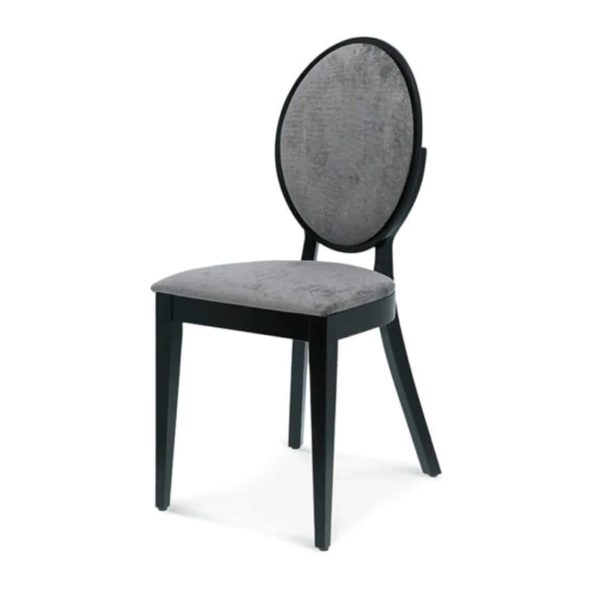 Belle side chair medallion round back restaurant chair DeFrae Contract Furniture