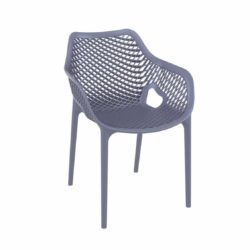 Bruce Stackable Outside Armchair DeFrae Contract Furniture Blue