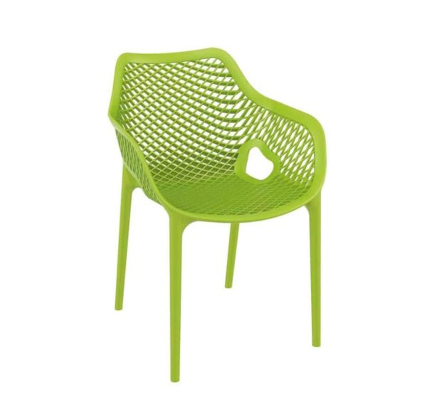 Bruce Stackable Outside Armchair DeFrae Contract Furniture Green
