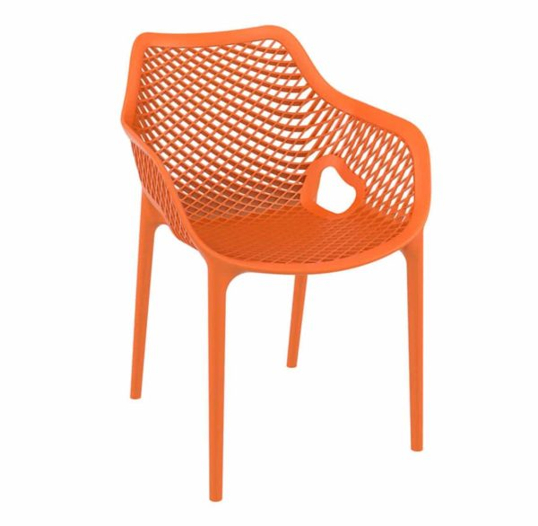 Bruce Stackable Outside Armchair DeFrae Contract Furniture Orange