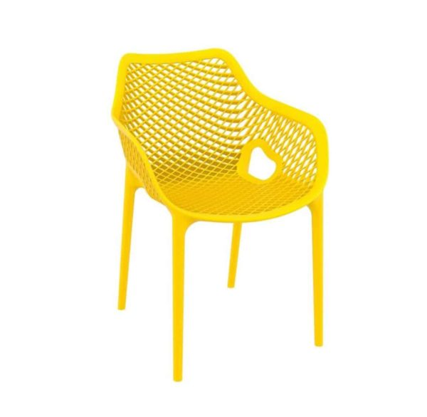 Bruce Stackable Outside Armchair DeFrae Contract Furniture Yellow