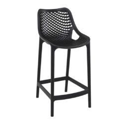 Bruce Stackable Outside Bar Stool DeFrae Contract Furniture Black